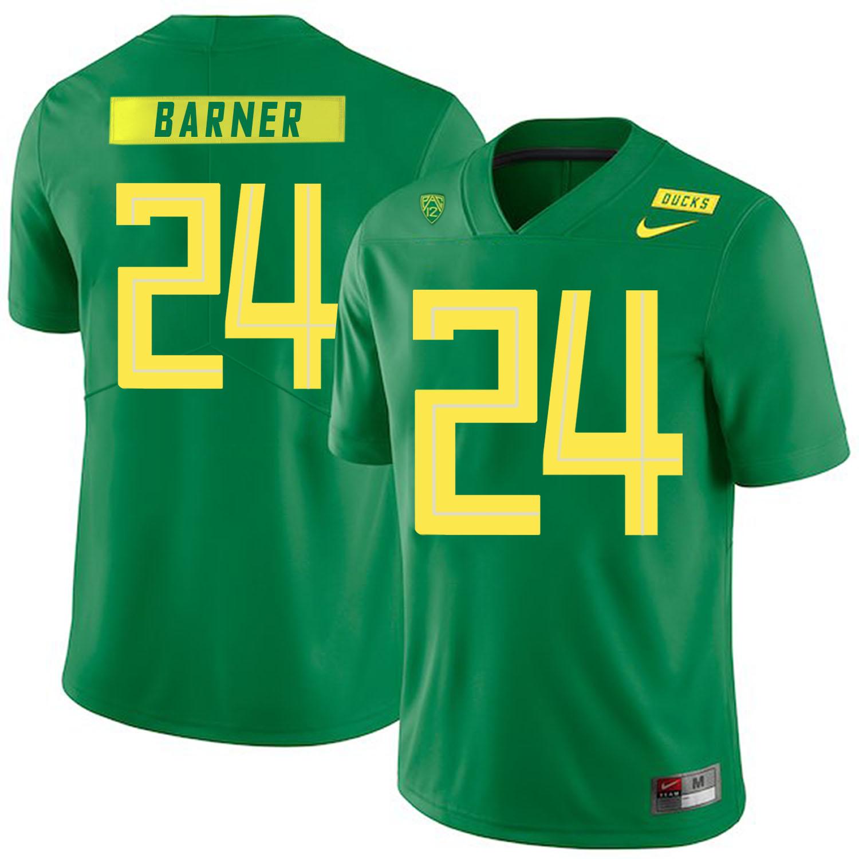 Oregon Ducks 24 Kenjon Barner Apple Green Nike College Football Jersey