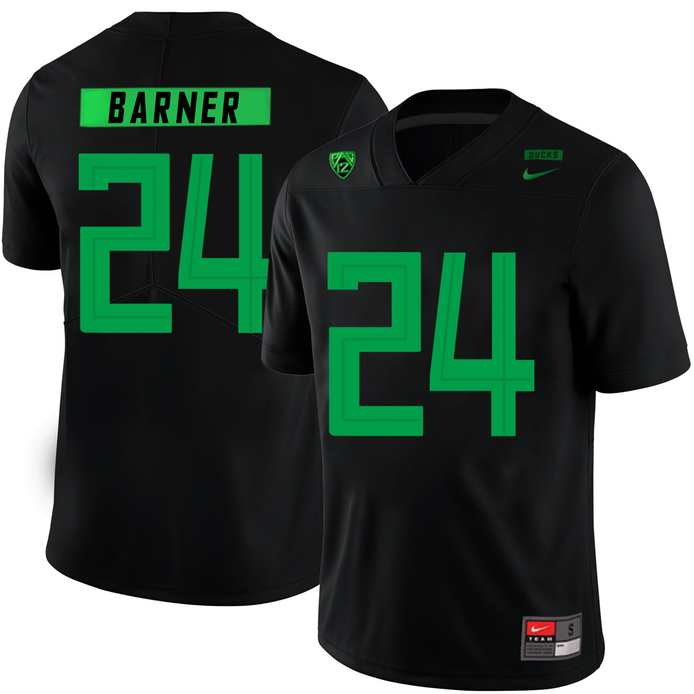 Oregon Ducks 24 Kenjon Barner Black Nike College Football Jersey