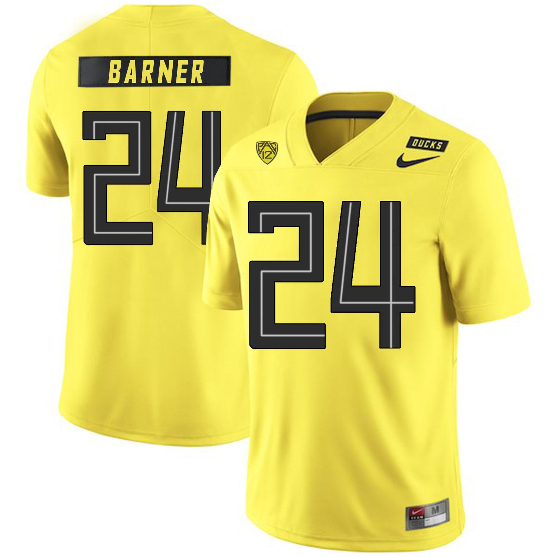 Oregon Ducks 24 Kenjon Barner Yellow Nike College Football Jersey