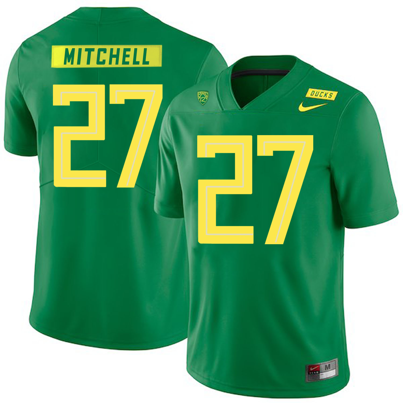 Oregon Ducks 27 Terrance Mitchell Apple Green Nike College Football Jersey