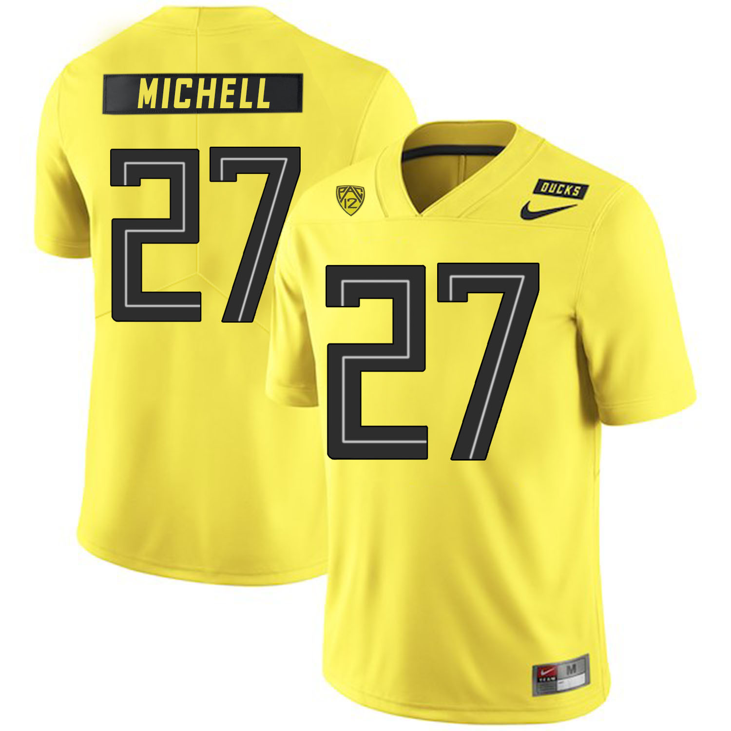 Oregon Ducks 27 Terrance Mitchell Yellow Nike College Football Jersey