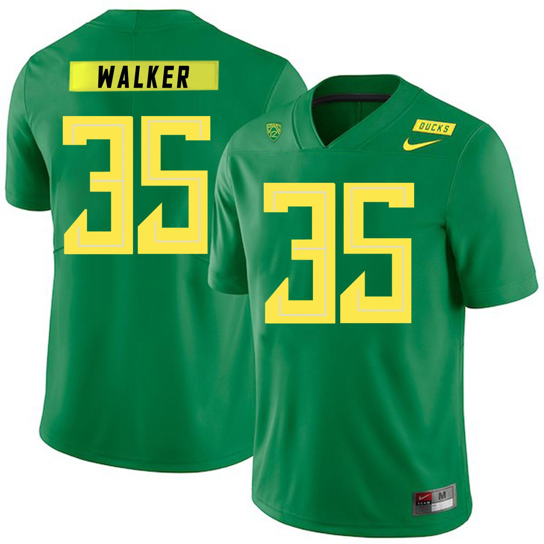Oregon Ducks 35 Joe Walker Apple Green Nike College Football Jersey