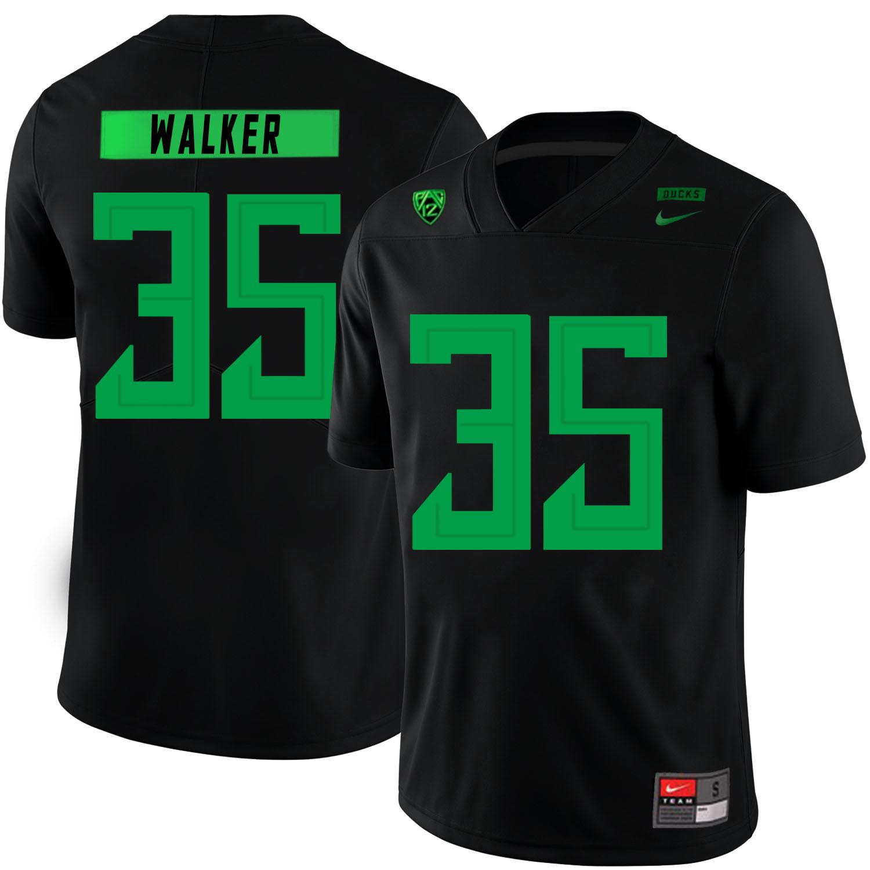 Oregon Ducks 35 Joe Walker Black Nike College Football Jersey