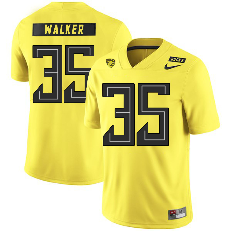 Oregon Ducks 35 Joe Walker Yellow Nike College Football Jersey