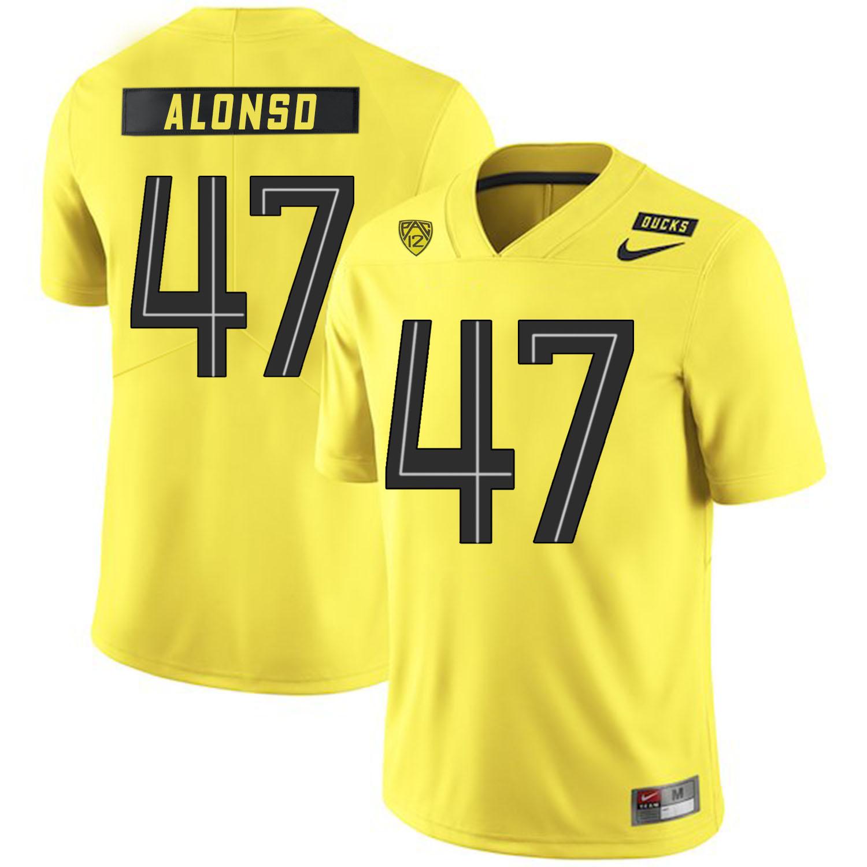 Oregon Ducks 47 Kiko Alonso Yellow Nike College Football Jersey