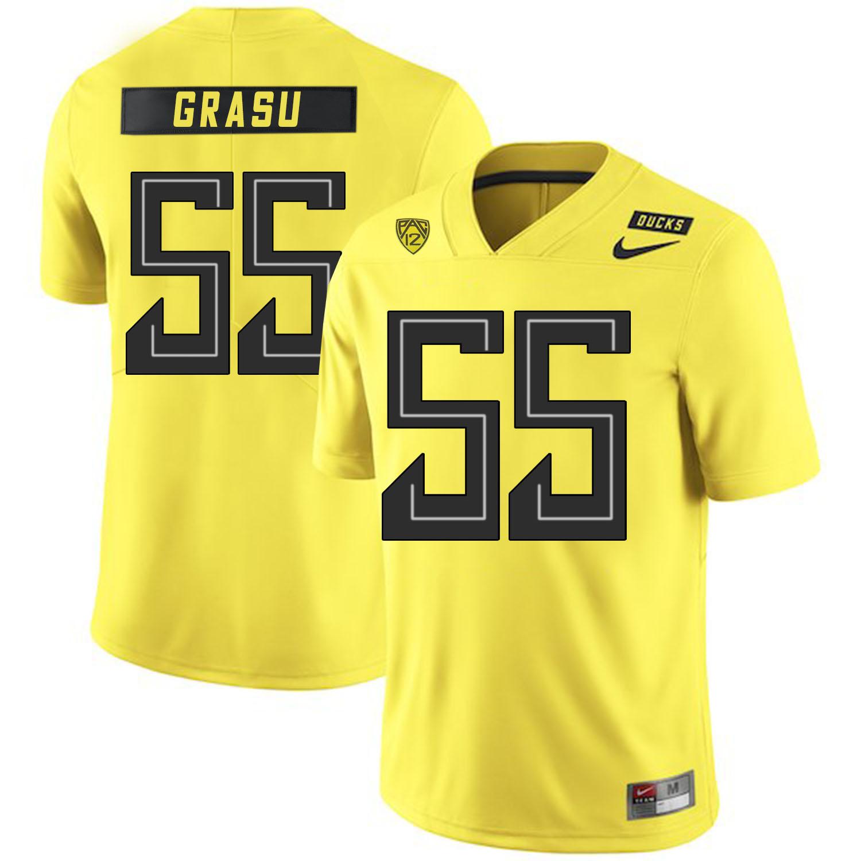 Oregon Ducks 55 Hroniss Grasu Yellow Nike College Football Jersey
