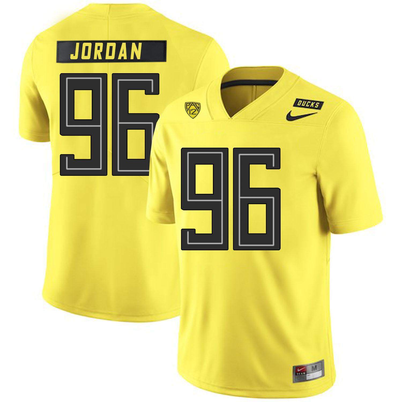 Oregon Ducks 96 Dion Jordan Yellow Nike College Football Jersey