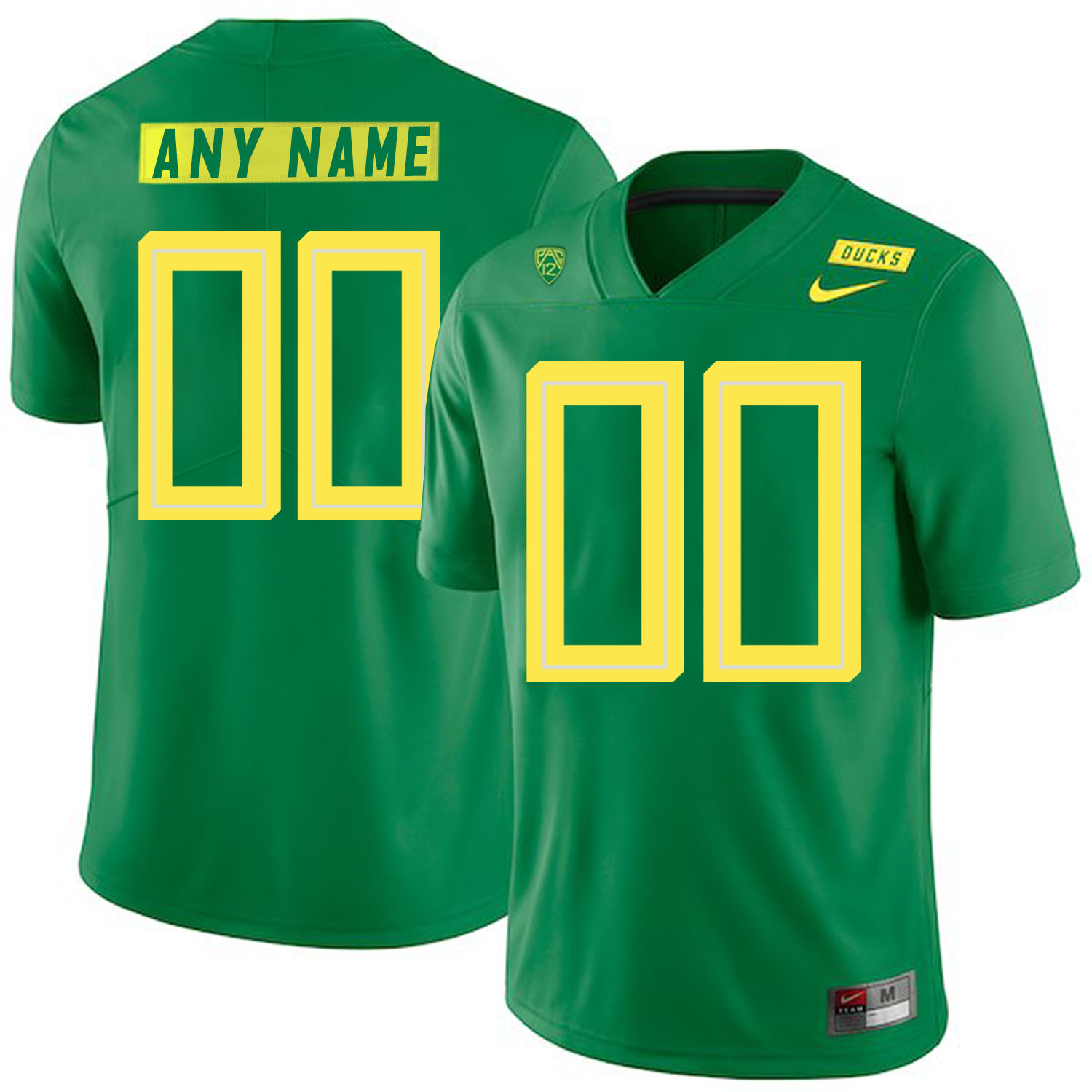 Oregon Ducks Apple Green Men's Customized Nike College Football Jersey