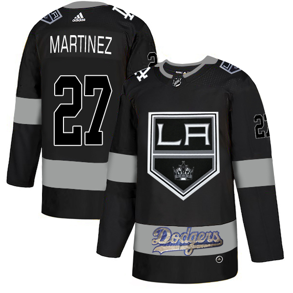 LA Kings With Dodgers 27 Alec Martinez Black Adidas Jersey