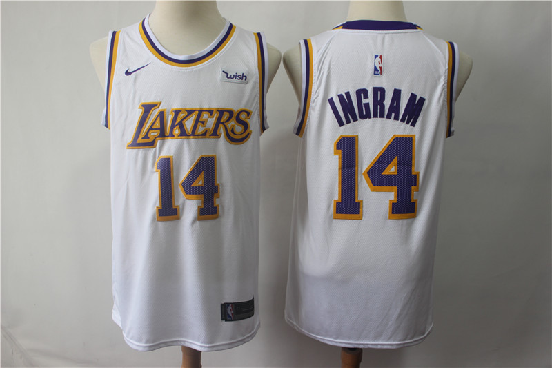 Lakers 14 Brandon Ingram White 2018-19 Nike Swingman Jersey
