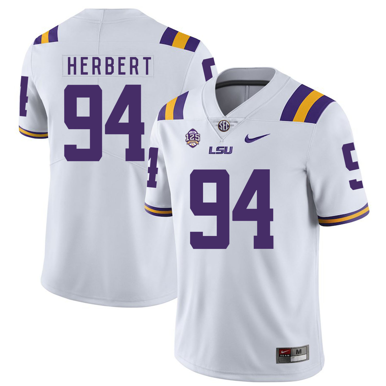 LSU Tigers 94 Danielle Hunter White Nike College Football Jersey