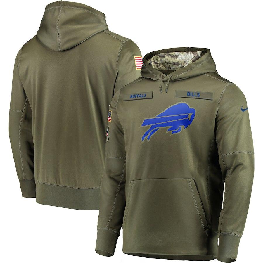 Nike Bills Olive Salute To Service Men's Pullove Hoodie