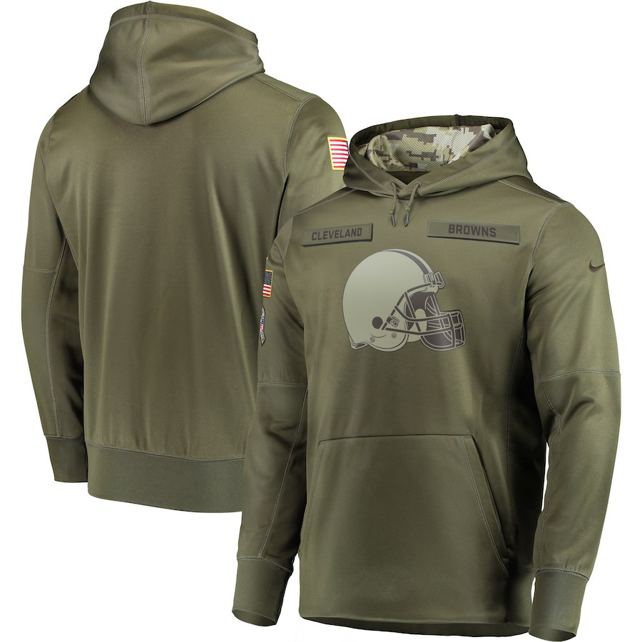 Nike Browns Olive Salute To Service Men's Pullove Hoodie