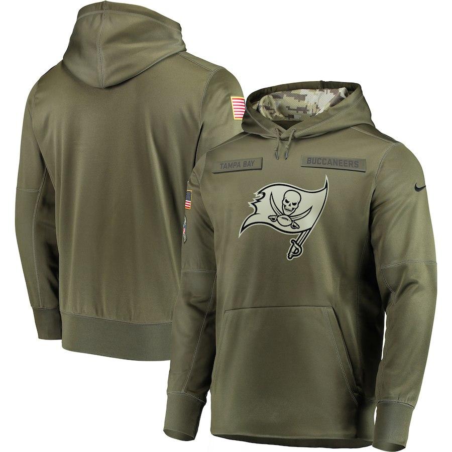 Nike Buccaneers Olive Salute To Service Men's Pullove Hoodie