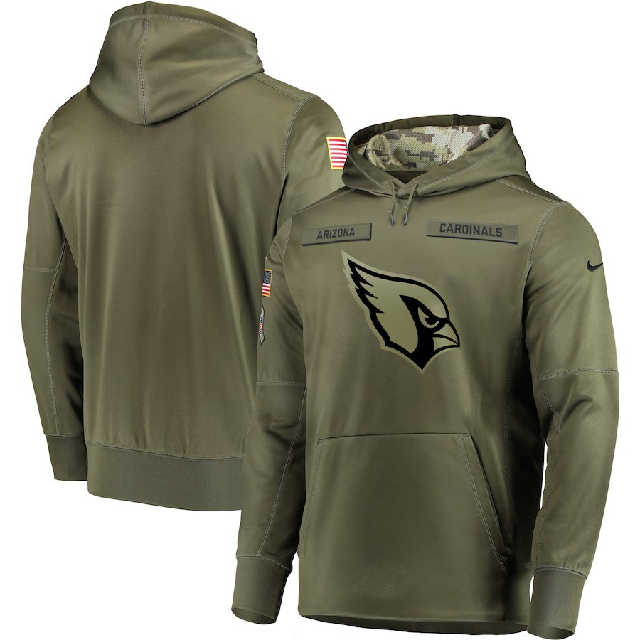 Nike Cardinals Olive Salute To Service Men's Pullove Hoodie