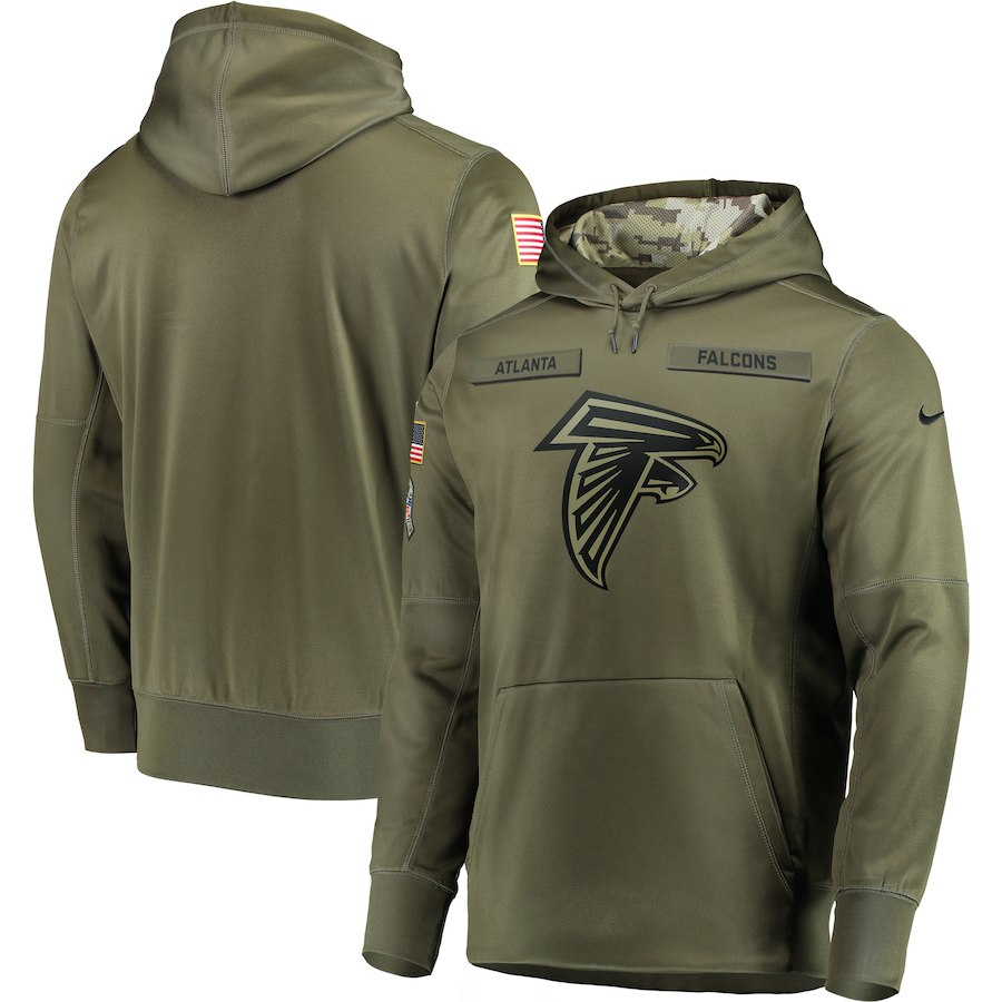 Nike Falcons Olive Salute To Service Men's Pullove Hoodie