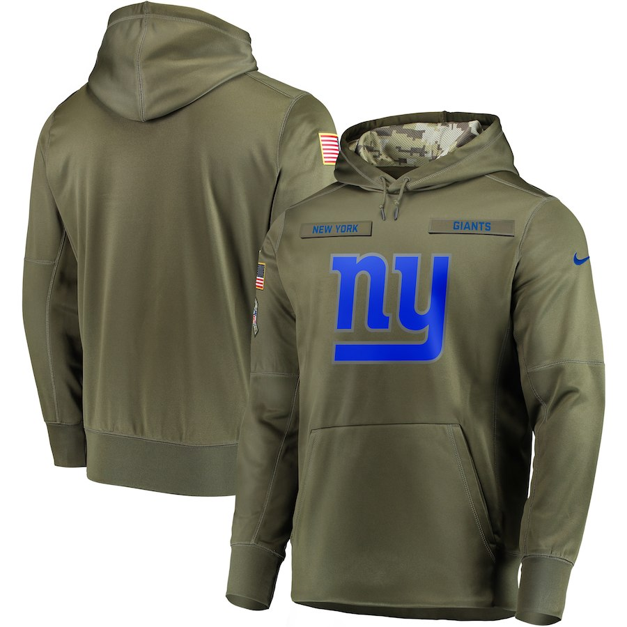 Nike Giants Olive Salute To Service Men's Pullove Hoodie