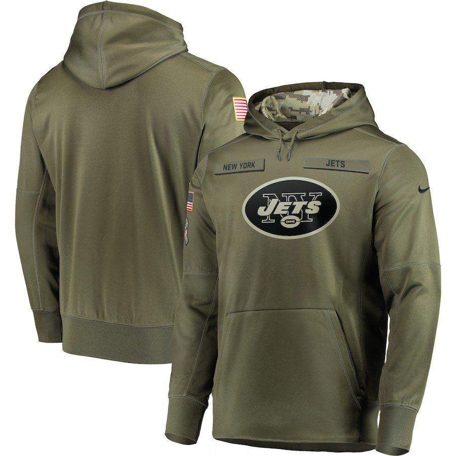 Nike Jets Olive Salute To Service Men's Pullove Hoodie