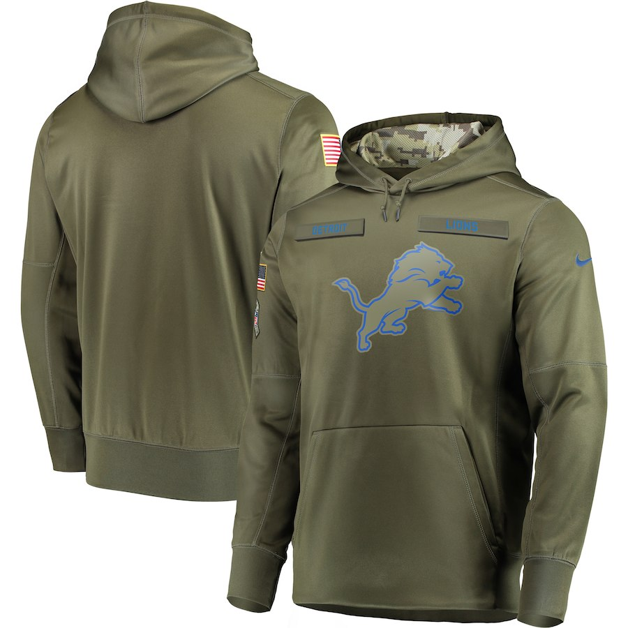 Nike Lions Olive Salute To Service Men's Pullove Hoodie