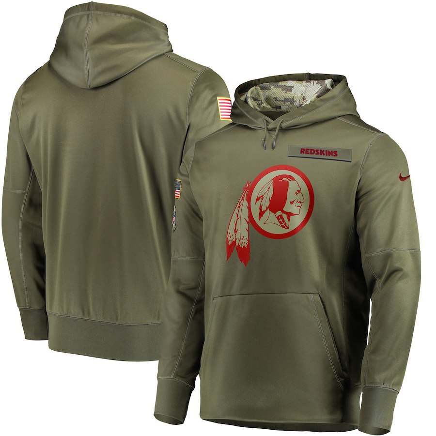Nike Redskins Olive Salute To Service Men's Pullove Hoodie