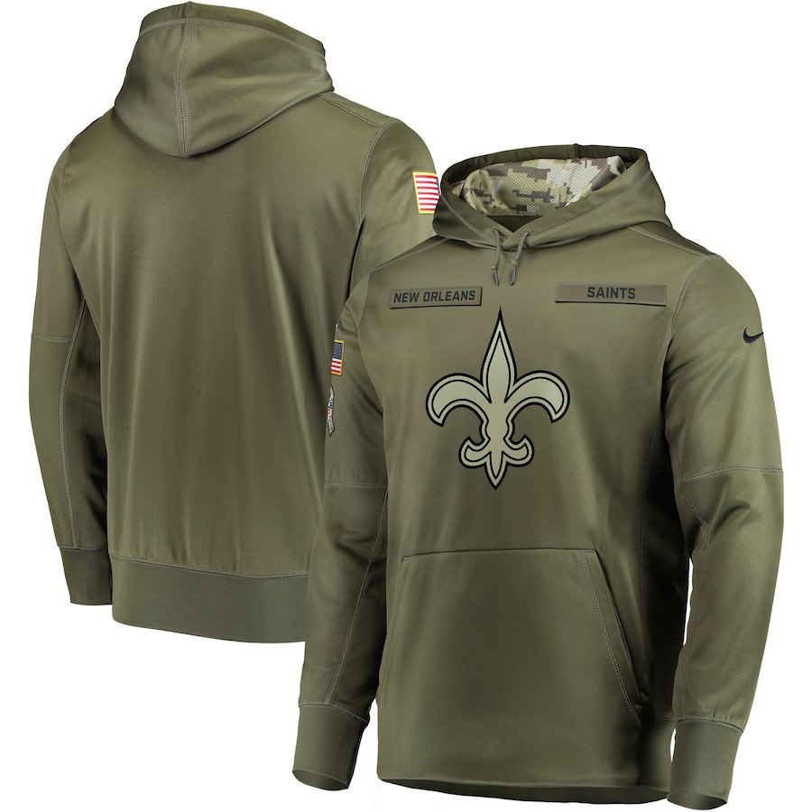 Nike Saints Olive Salute To Service Men's Pullove Hoodie