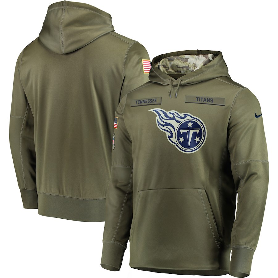 Nike Titans Olive Salute To Service Men's Pullove Hoodie