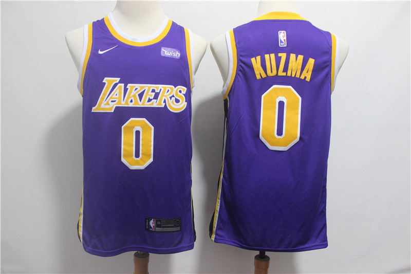 Lakers 0 Kyle Kuzma Purple 2018-19 Nike Swingman Jersey