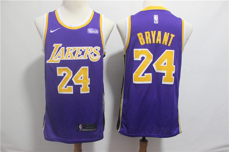 Lakers 24 Kobe Bryant Purple 2018-19 Nike Swingman Jersey