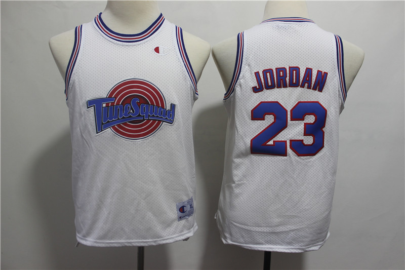 Tune Squad 23 Michael Jordan White Youth Movie Jersey