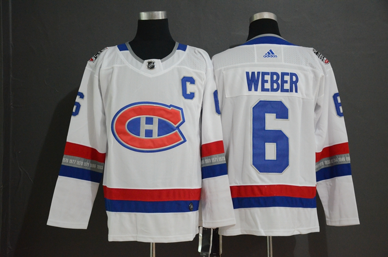 Canadiens 6 Shea Weber White 2017 NHL 100 Classic Adidas Jersey