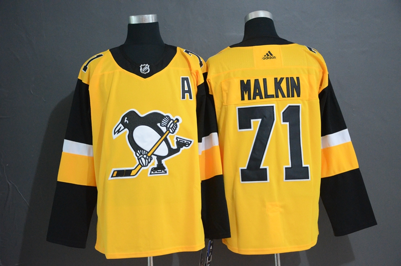 Penguins 71 Evgeni Mlkin Gold Alternate Adidas Jersey
