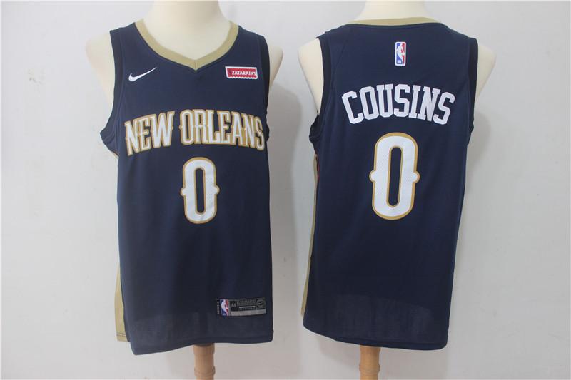 Pelicans 0 DeMarcus Cousins Navy Nike Swingman Jersey