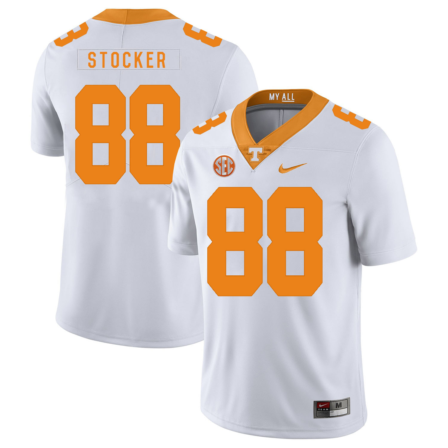 Tennessee Volunteers 88 Luke Stocker White Nike College Football Jersey