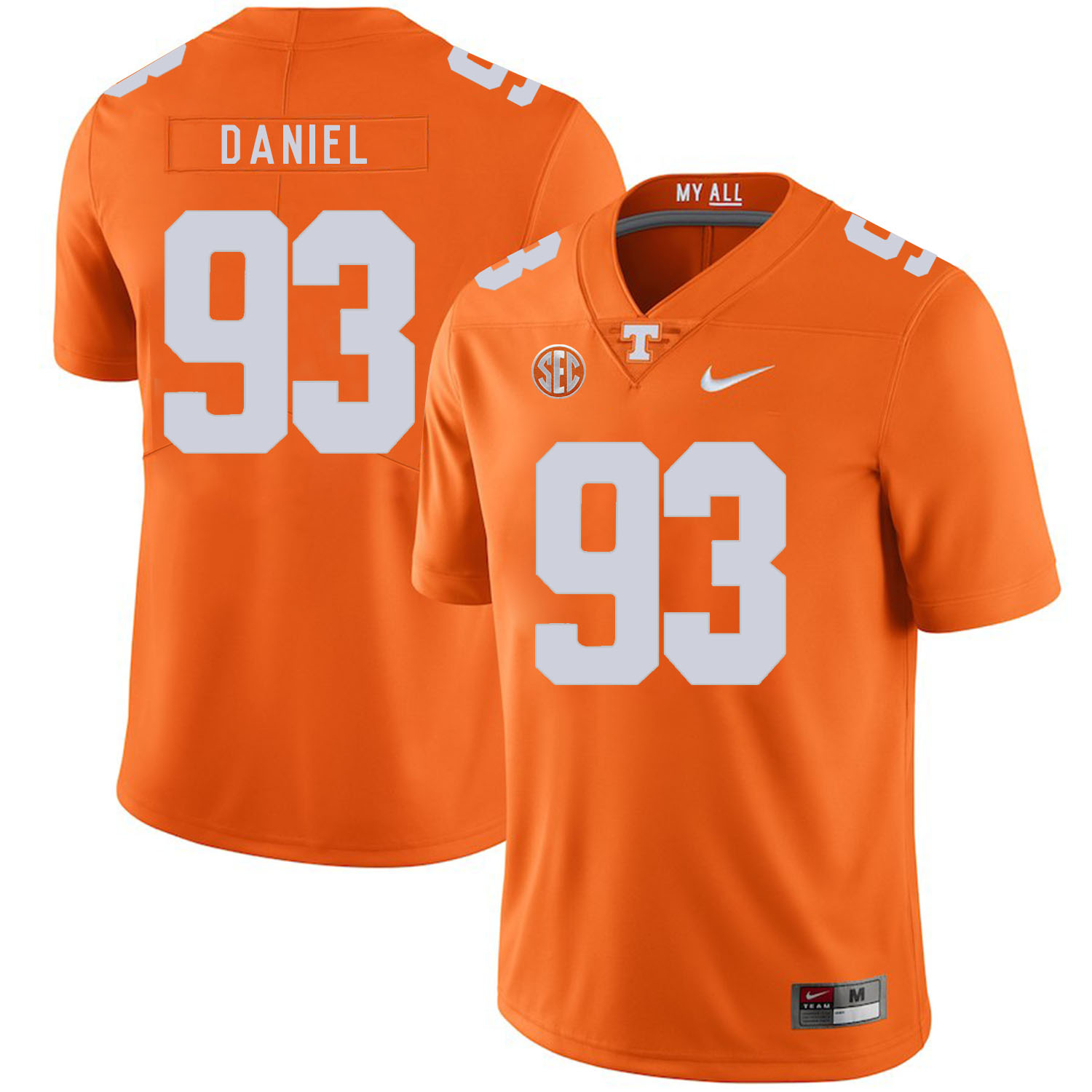 Tennessee Volunteers 93 Trevor Daniel Orange Nike College Football Jersey
