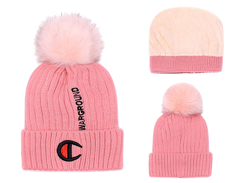 Champion Warground Logo Pink Fashion Sport Knit Hat SG