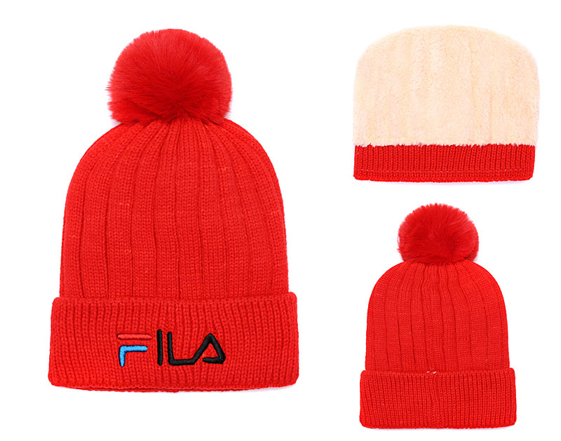 Fila Fresh Logo Red Fashion Sport Knit Hat SG