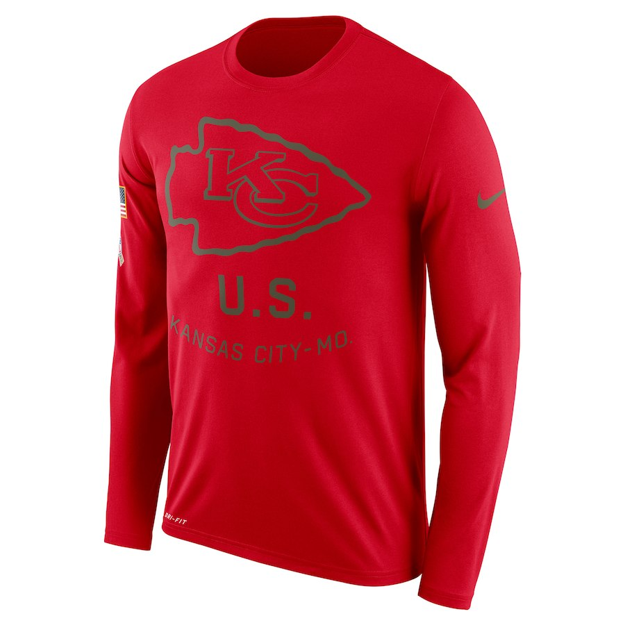 San Francisco 49ers Nike Salute to Service Sideline Legend Performance Long Sleeve T-Shirt Scarlet