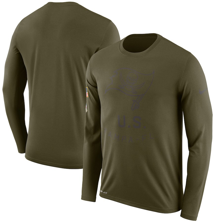 Tampa Bay Buccaneers Nike Salute to Service Sideline Legend Performance Long Sleeve T-Shirt Olive