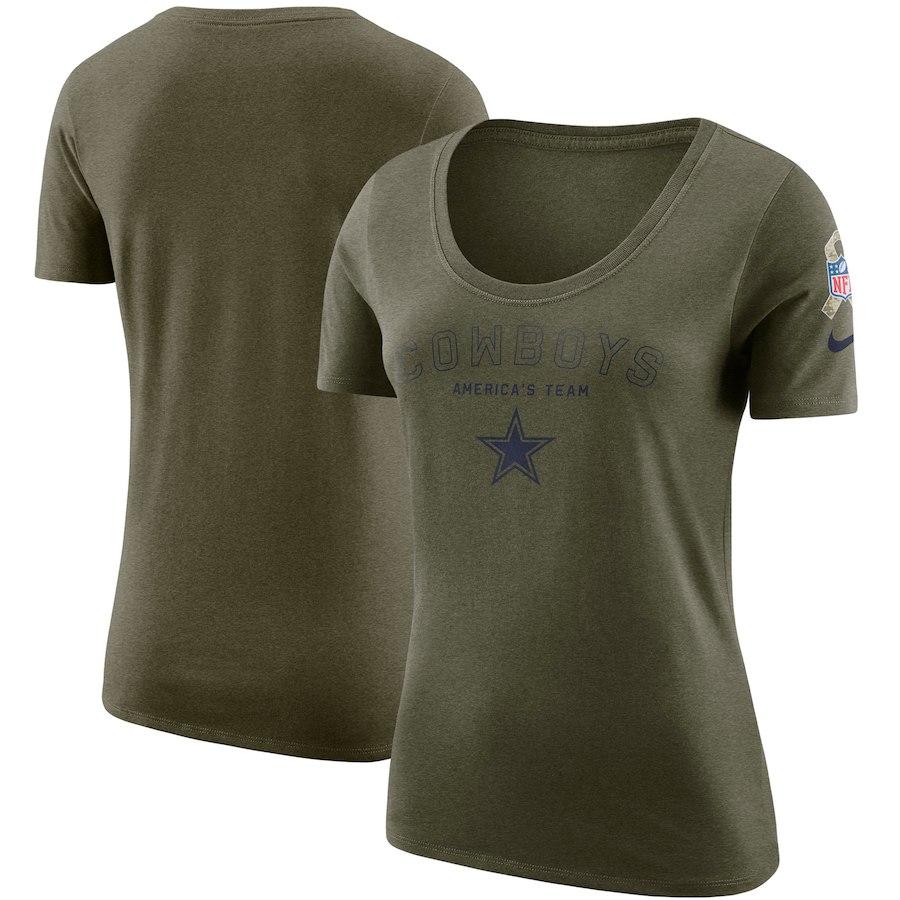Dallas Cowboys Nike Women's Salute to Service Legend Scoop Neck T-Shirt Olive