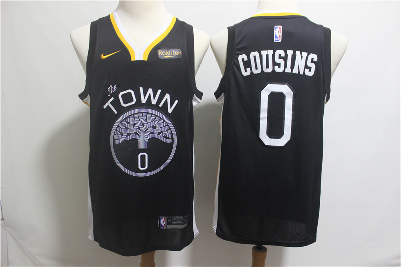 Warriors 0 DeMarcus Cousins Black 2018-19 City Edition Nike Swingman Jersey