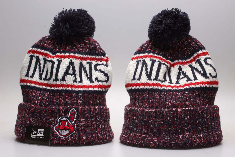 Indians Fresh Logo Red Knit Hat YP