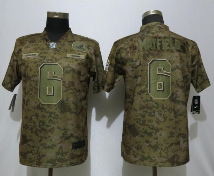 Nike Browns 6 Baker Mayfield Camo Women Salute To Service Limited Jersey 0266c9e18