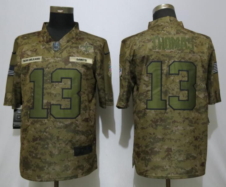 Nike Saints 13 Micheal Thomas Camo Salute To Service Limited Jersey