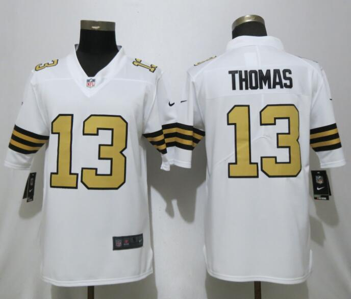 Nike Saints 13 Micheal Thomas White Color Rush Limited Jersey