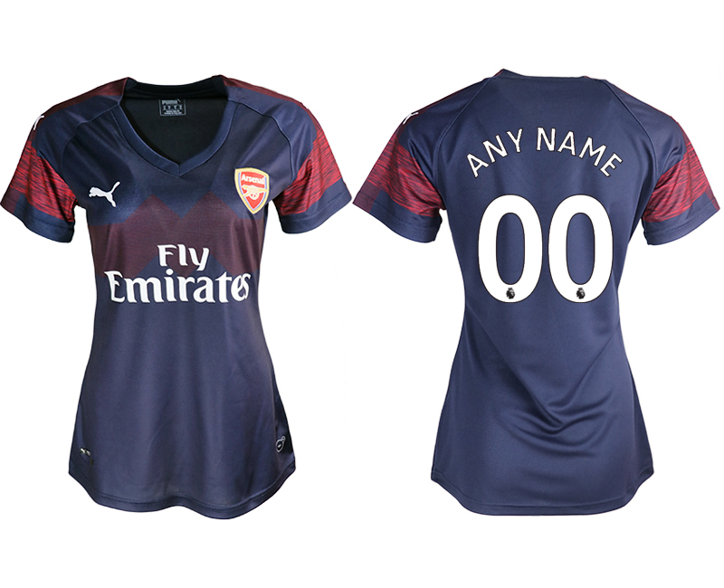 2018-19 Arsenal Away Women Customized Soccer Jersey