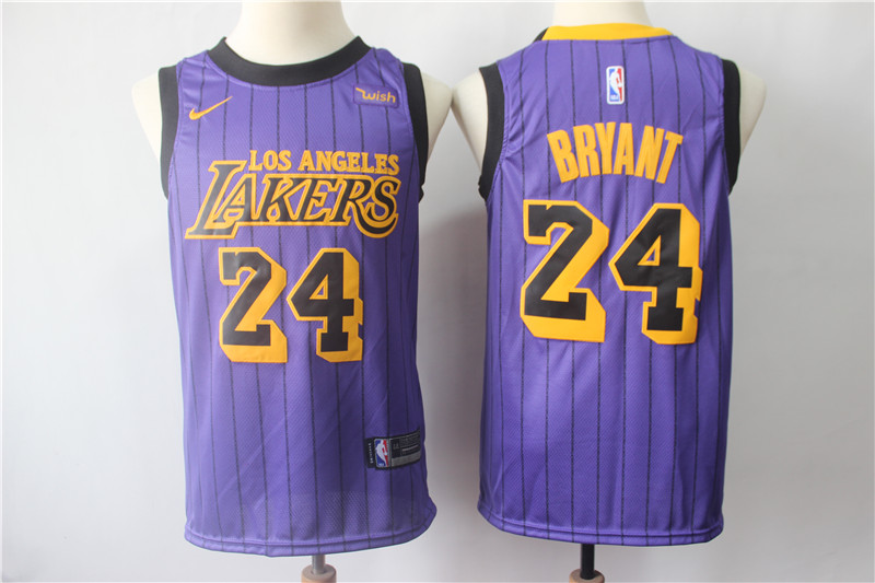 Lakers 24 Kobe Bryant Purple 2019 City Edition Nike Swingman Jersey