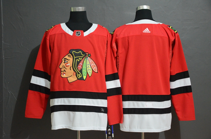 Blackhawks Blank Red Adidas Jersey