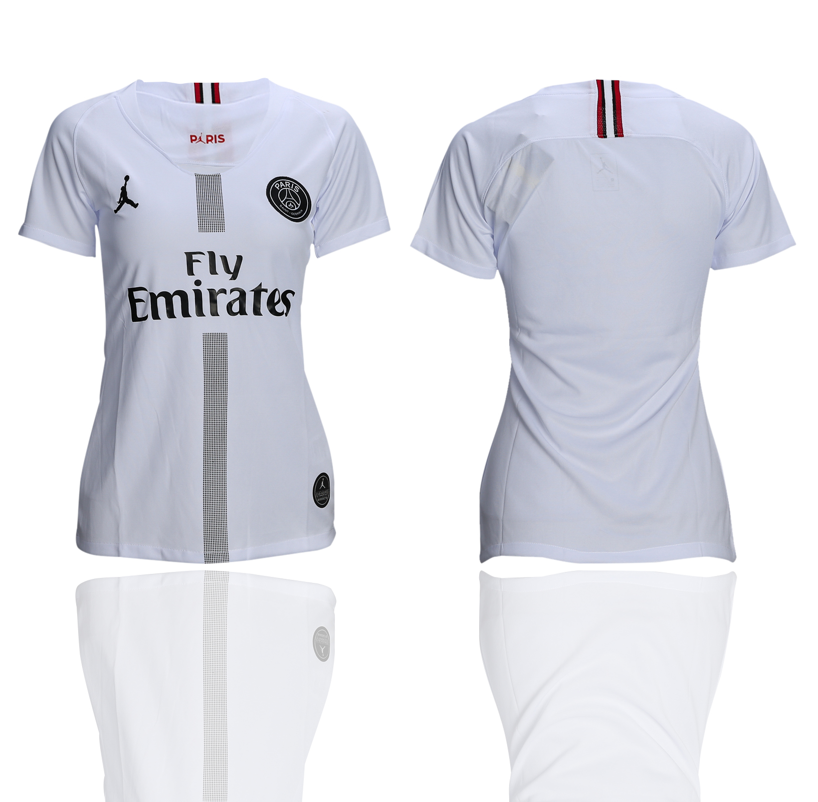 2018-19 Paris Saint-Germain Jordan Champions League White Women Soccer Jersey