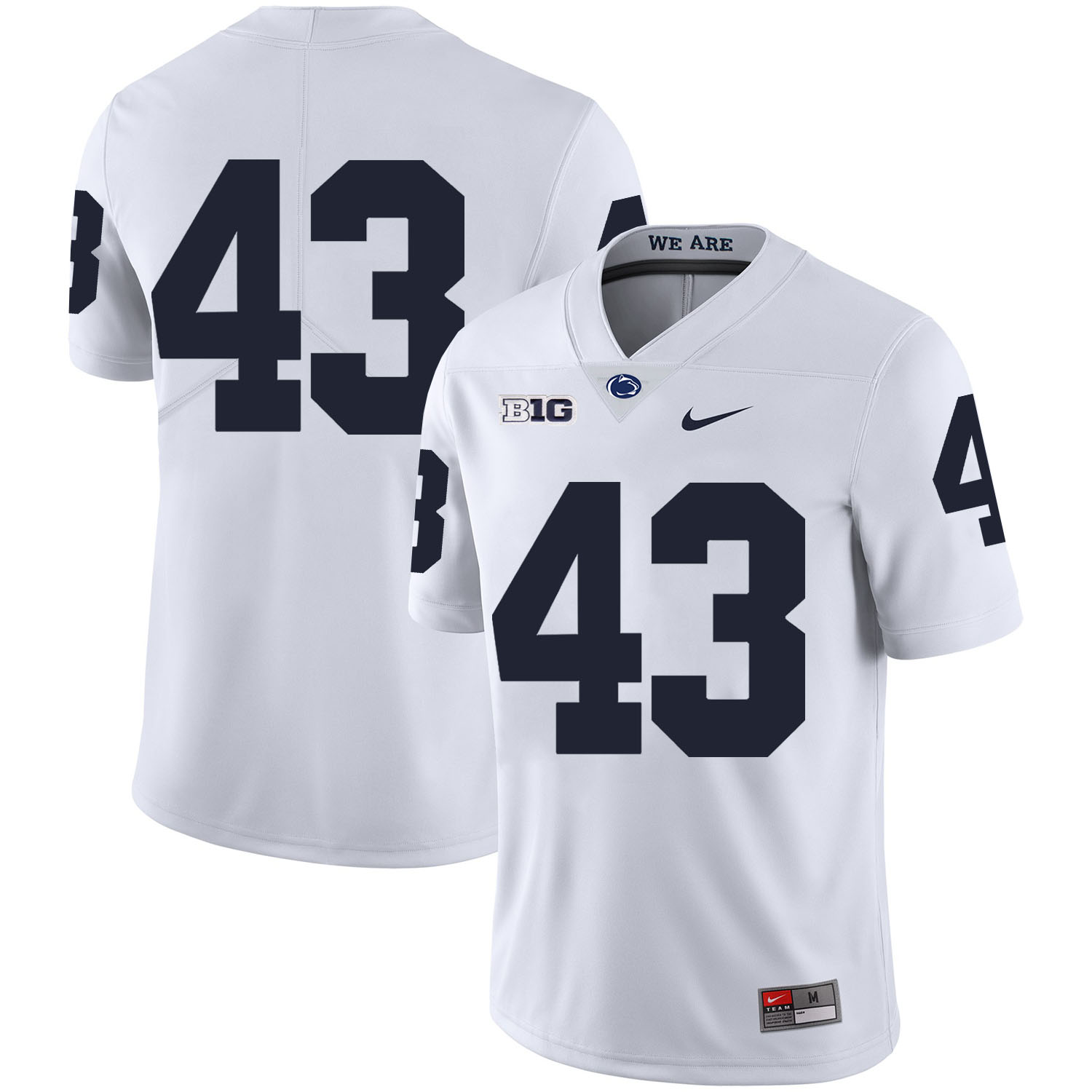 Penn State Nittany Lions 43 Mike Hull White Nike College Football Jersey