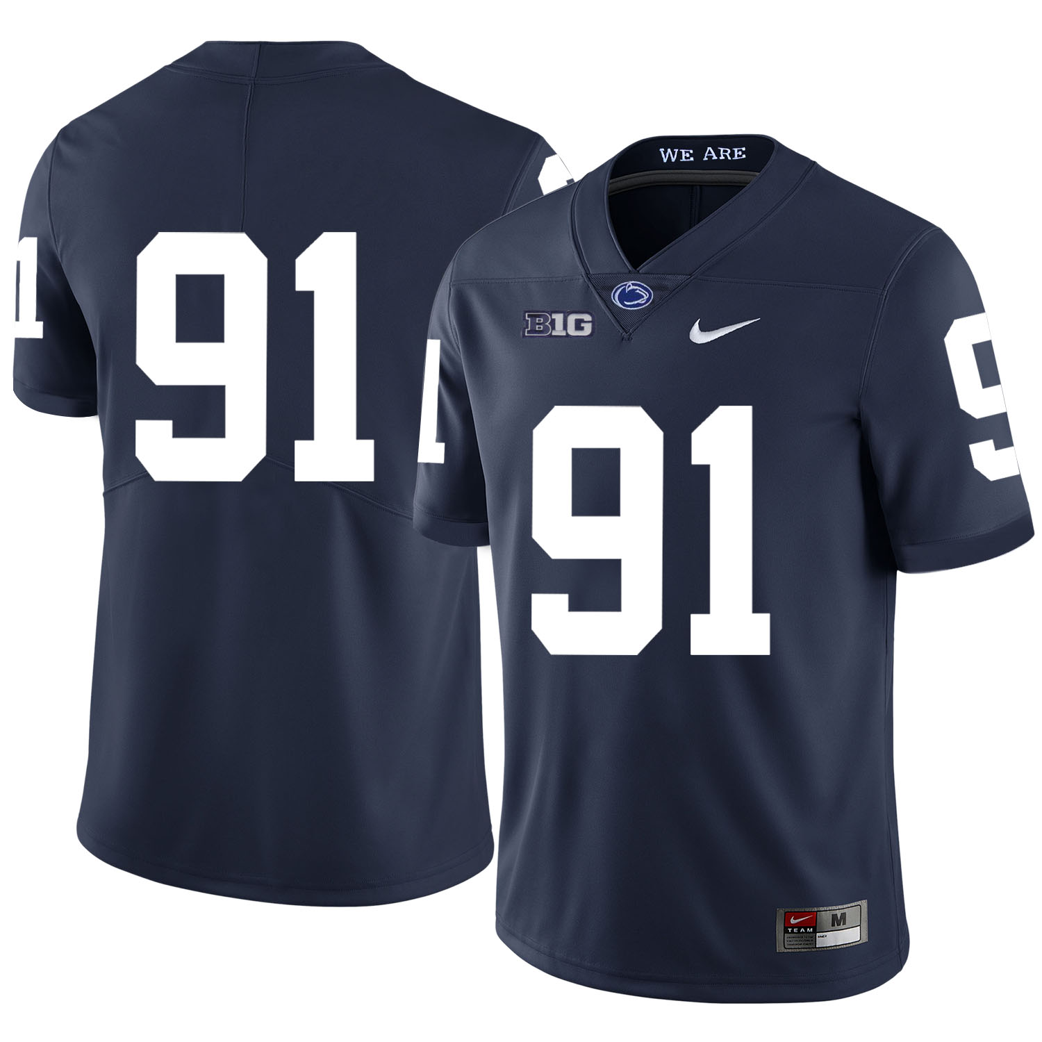 Penn State Nittany Lions 91 DaQuan Jones Navy Nike College Football Jersey